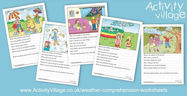 Lovely new weather comprehension worksheets