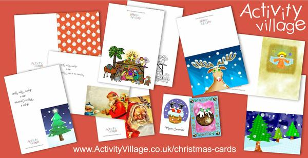 An assortment of new Christmas cards
