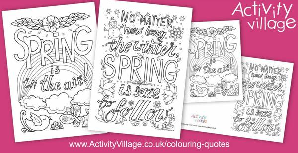 No matter how long the winter ... new colouring quotes this week