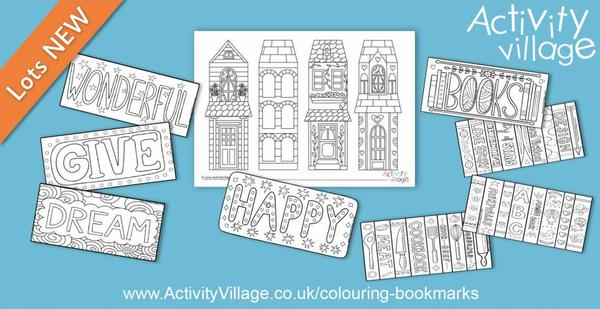 Lovely new colouring bookmarks in interesting designs