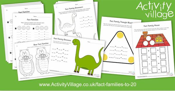 Fun new activities for fact families to 20