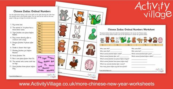 Here are two ordering activities based on the story of the Chinese Zodiac animals - such a fun way to practise!