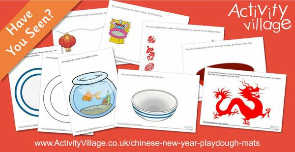 Have you seen our playdough mats for Chinese New Year?