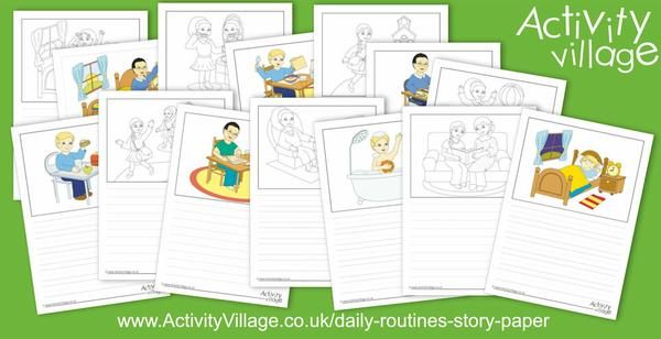 New daily routines story paper too