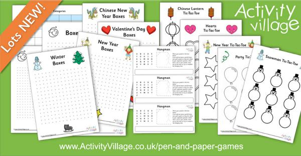 New pen and paper games just added