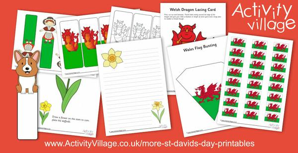 More St David's Day printables