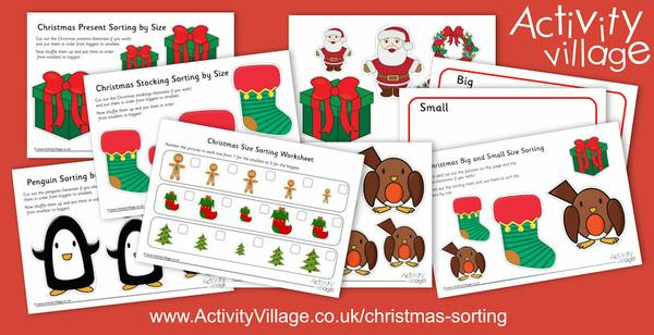 Learn to sort by size and with these fun new Christmas sorting worksheets and printables.