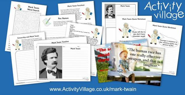 Learn about Mark Twain and explore our collection of printable activities
