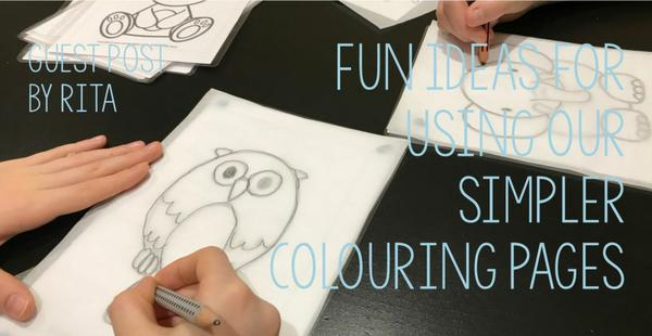 Rita shares some fun ideas for using our simpler colouring pages