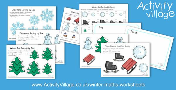Size sorting with a winter theme