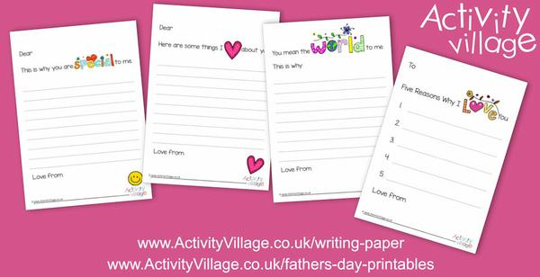 New prompted writing paper designs