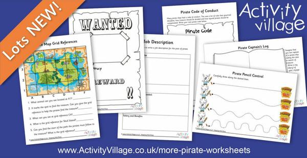 Topping up our new Pirates topic with these fun worksheets
