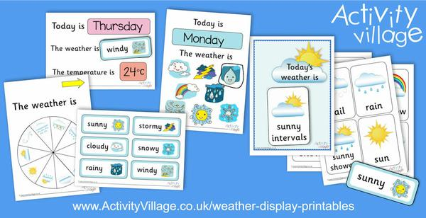 Track the weather with these colourful new weather display printables