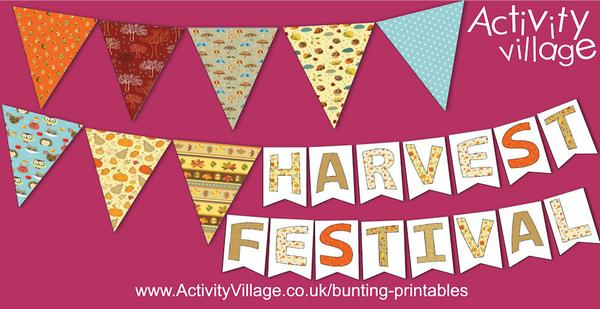New bunting printables for autumn and harvest