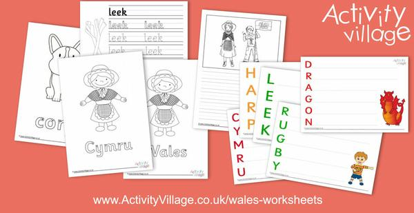 We've added new handwriting worksheets, acrostic poem printables and story paper to our Wales worksheets collection