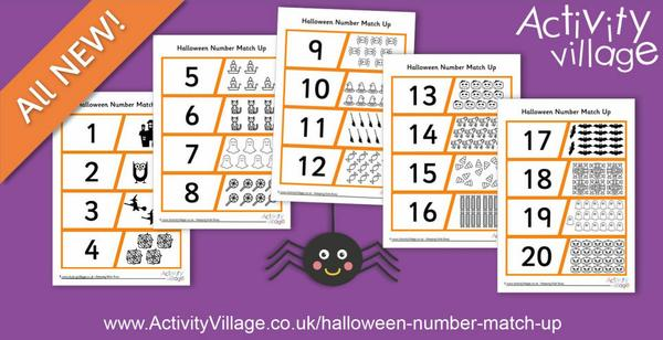 Count and match with this fun new Halloween counting puzzle