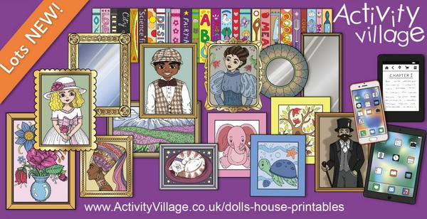 New dolls house printables for fans of miniatures