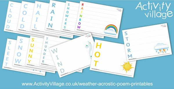 New weather acrostic poem printables