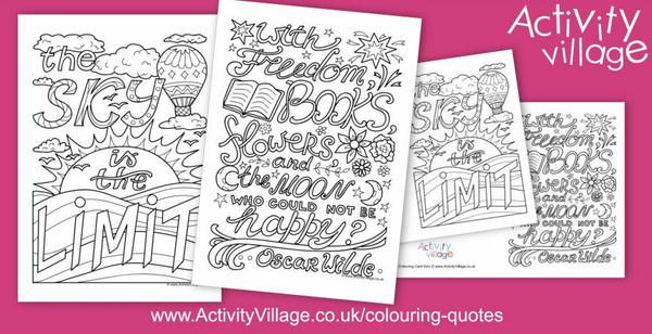 Two mindful colouring quotes this week