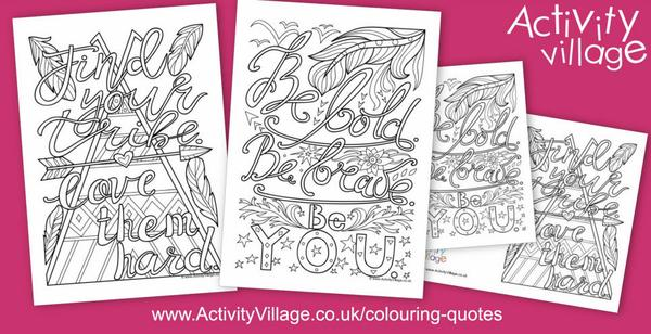2 new colouring quotes just added