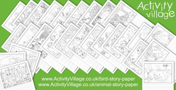 Fun new animal story paper to inspire creative writing