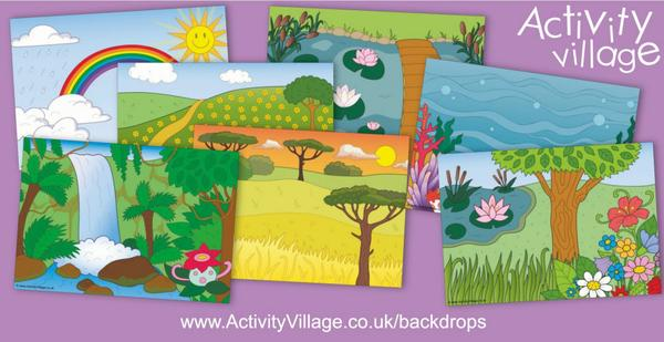 There are many ways you can use our new backdrops