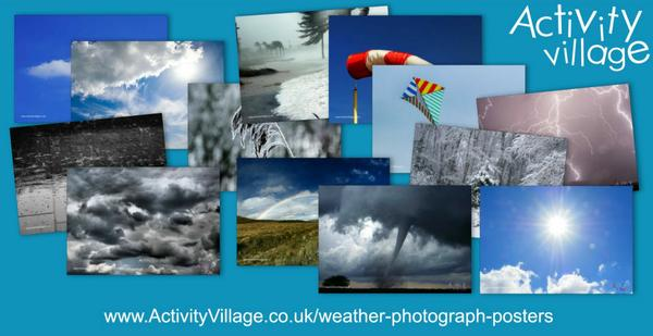 New weather photograph posters for discussion or display