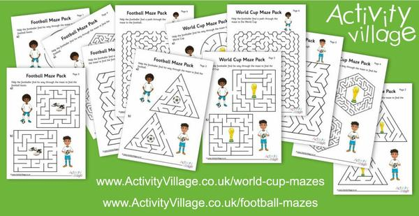 An abundance of football mazes!
