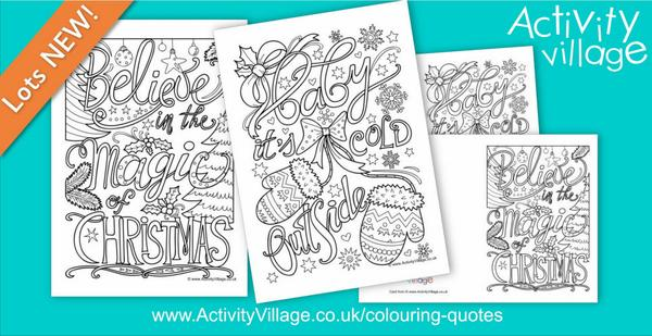 Our latest lettered colouring pages and cards
