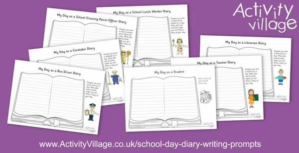 School Day Diary Writing Prompts