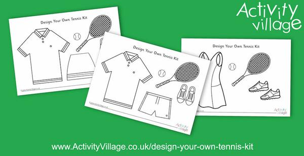 New Design Your Own Tennis Kit pages