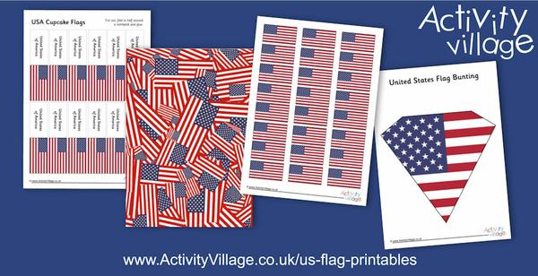 We've been topping up our US flag printables