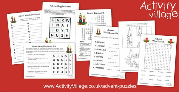 New Advent puzzles to challenge the kids!
