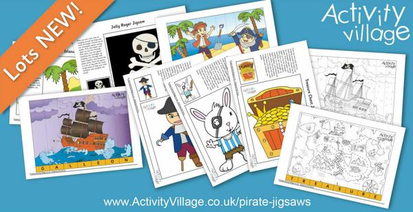 Print a jigsaw for the kids with a pirate theme. Counting, spelling and just for fun!