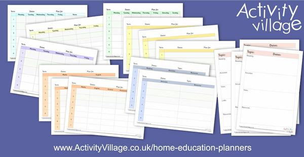 Adding to our collection of home education planners with termly planning pages