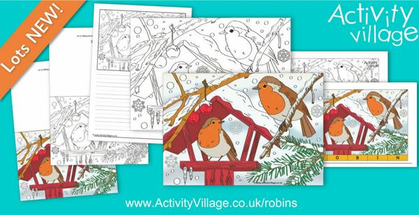 Lovely new robins scene activities