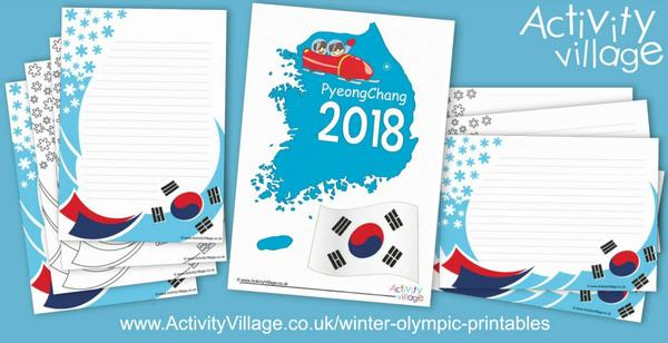 Frames and posters for the PyeongChang Winter Olympics