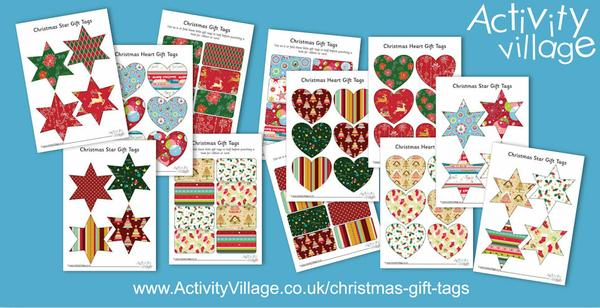 Lots of pretty new Christmas gift tags to print