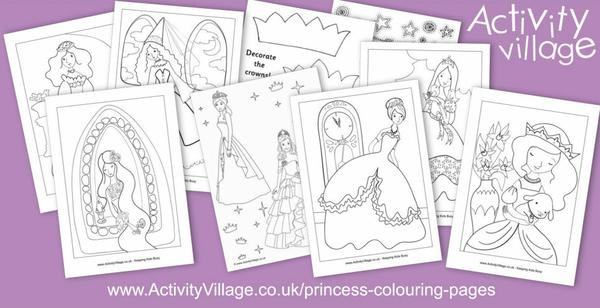 Have you seen our princess colouring pages?