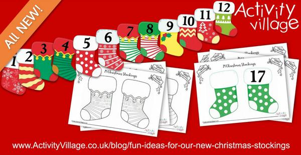Fun ideas for using our new Christmas stocking printables!