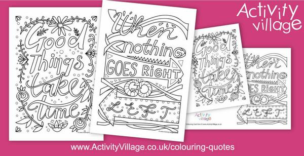 This week's colouring quotes are all about persistance...