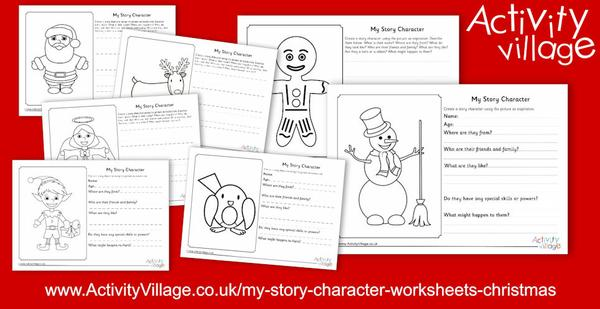 Plan characters for a Christmas story with the help of these new Christmas story character worksheets