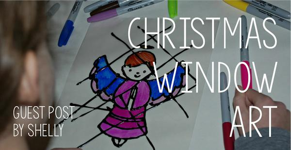 Our latest Guest Post - lovely Christmas window art ideas from Shelly and the kids