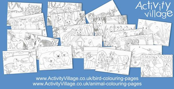 And adding to our collections of animal and bird colouring pages too