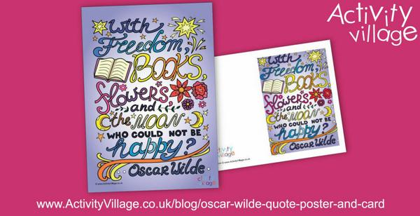 Oscar Wilde poster and greetings card