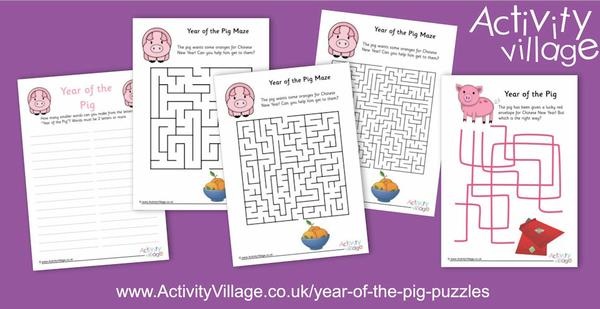 New puzzles for Year of the Pig
