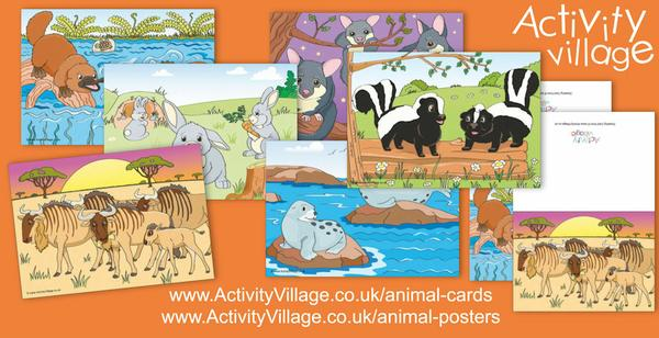 With World Animal Day in mind, we've been topping up our Animal Posters and Animal Cards ...