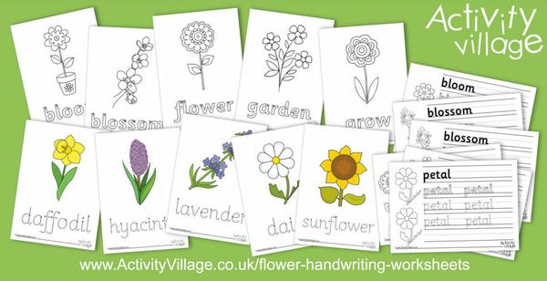 We've added some lovely new flower handwriting worksheets