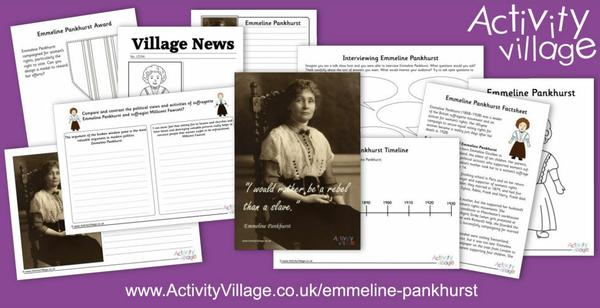 Learn about Emmeline Pankhurst and enjoy our collection of resources