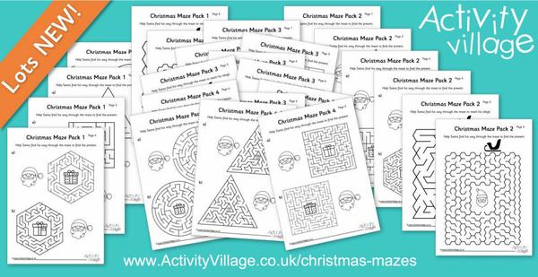 A bumper collection of new Christmas mazes!